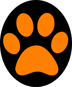246x298 Orange Paw Print Clip Art Clipartfox