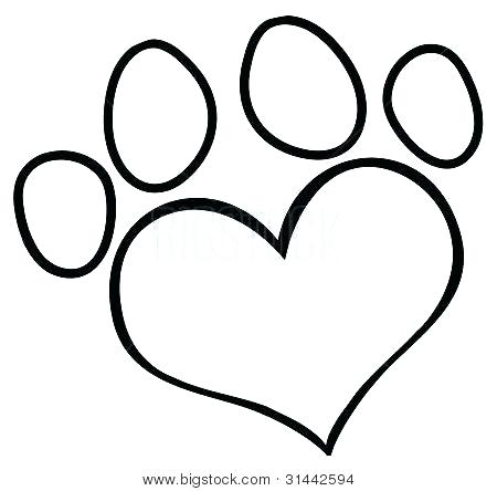 450x444 Paw Print Coloring Pages Stunning Paw Print Printable Free