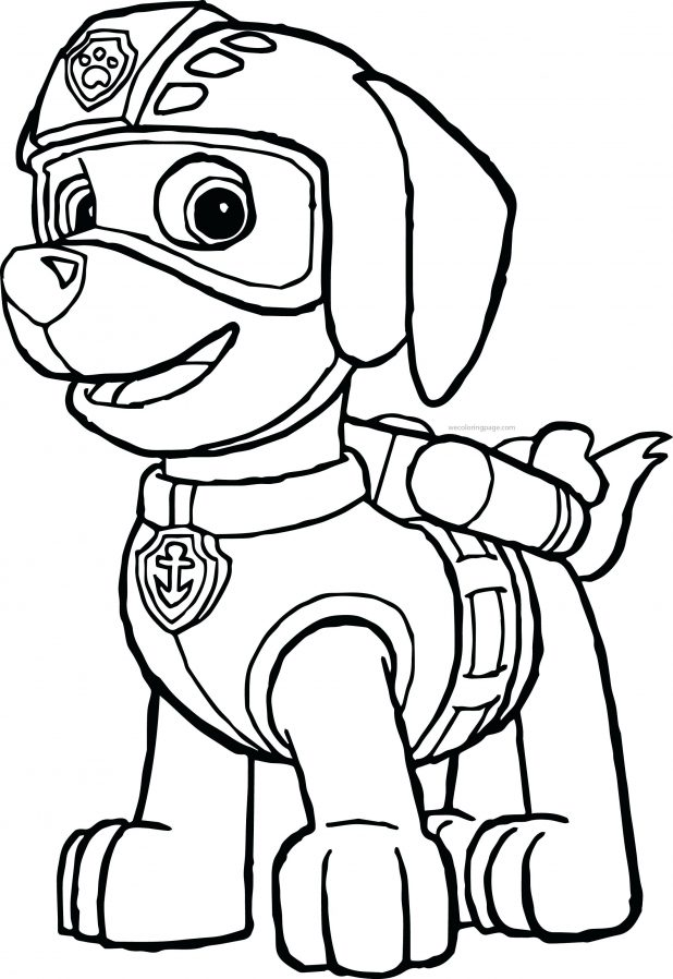 Paw Patrol Zuma Coloring Pages - Super Kins Author