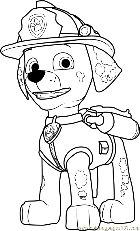 485x800 Marshall Coloring Page