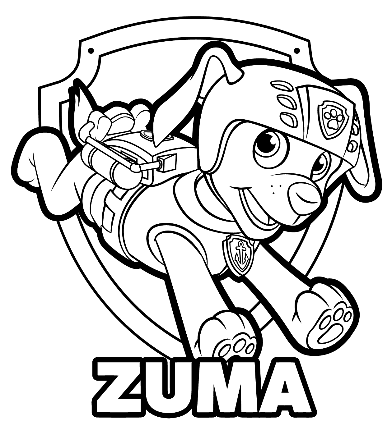 Paw Patrol Ausmalbilder Chase : Paw Patrol Coloring Pages Free Download Best Paw Patrol Coloring