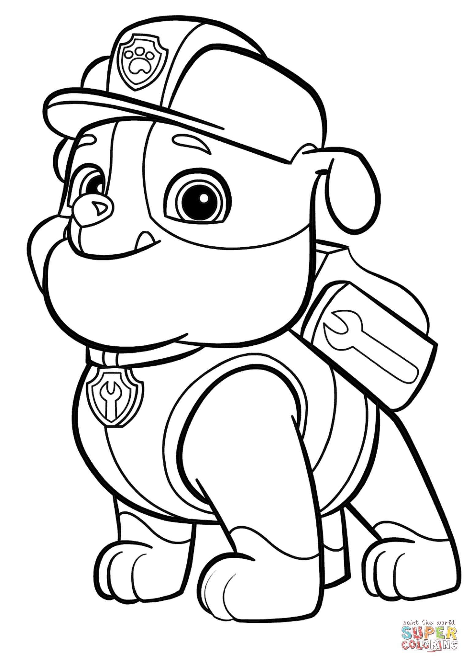 1517x2147 Paw Patrol Rubble Coloring Page Free Printable Coloring Pages