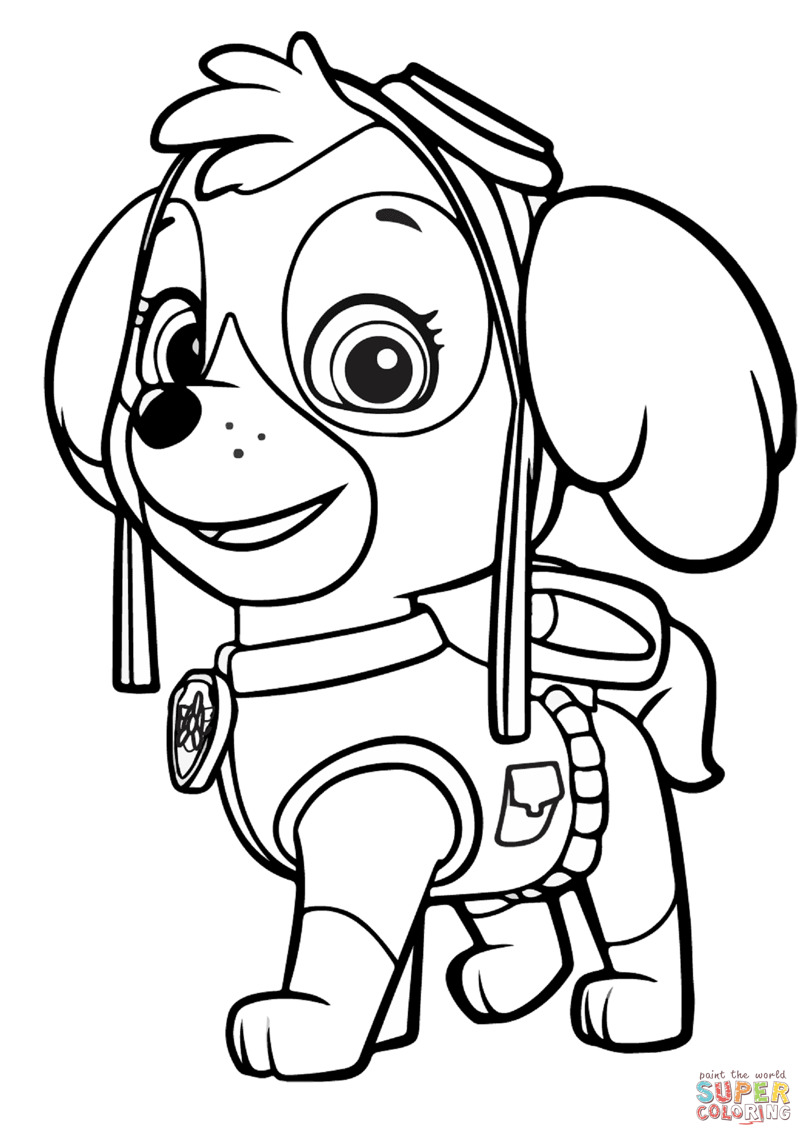 1561x2207 Paw Patrol Skye Coloring Page Free Printable Pages