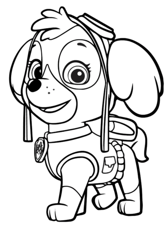 340x480 Paw Patrol Skye Coloring Page Free Printable Coloring Pages