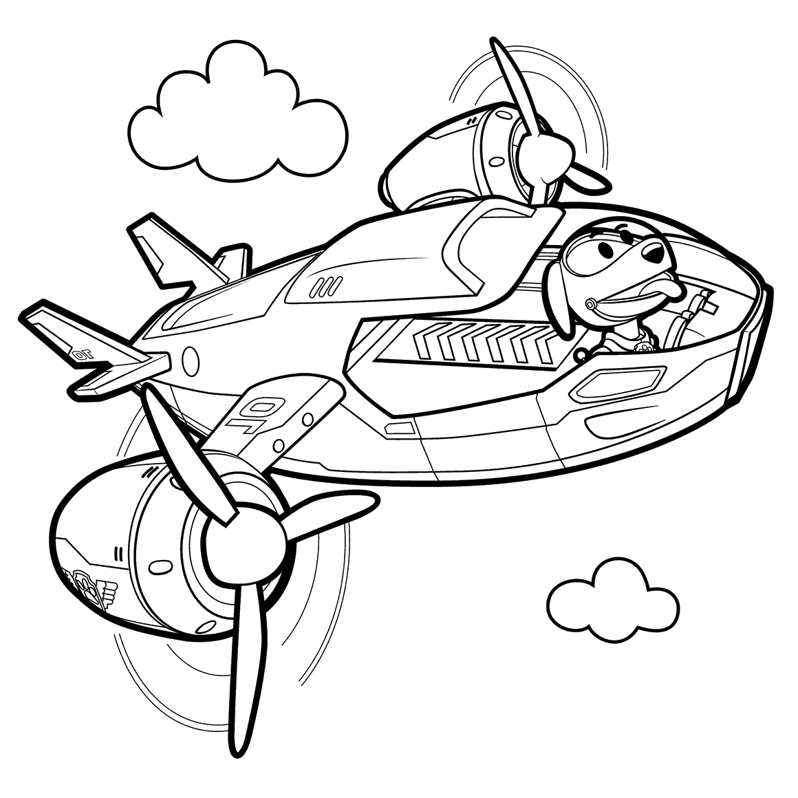 1160x1160 Robo Dog In Air Patroller Coloring Pages