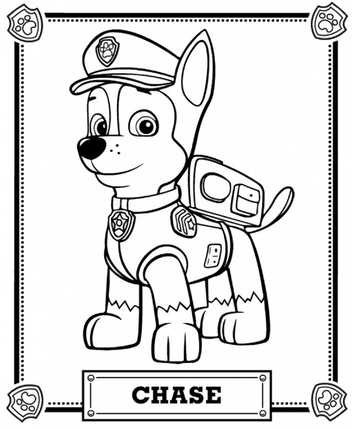 687x836 Coloring Paw Patrol Coloring Pages To Print Free Christmas 99