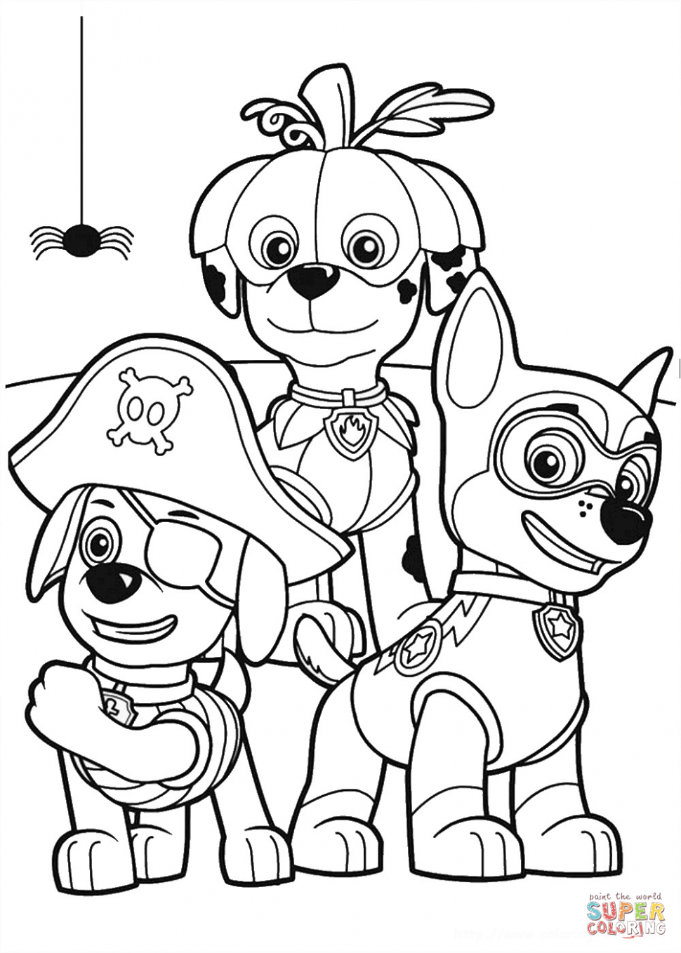970x1358 Coloring Paw Patrol Halloween Party Coloring Pagee Printable