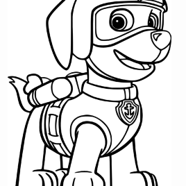 268x268 Coloring Pages Paw Patrol Kids Drawing And Coloring Pages