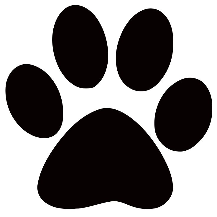736x736 Black Panther Clipart Paw Print