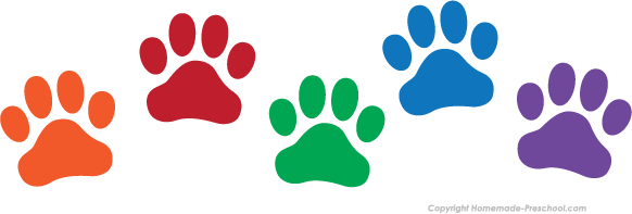 Paw print rainbow. Clipart free download best