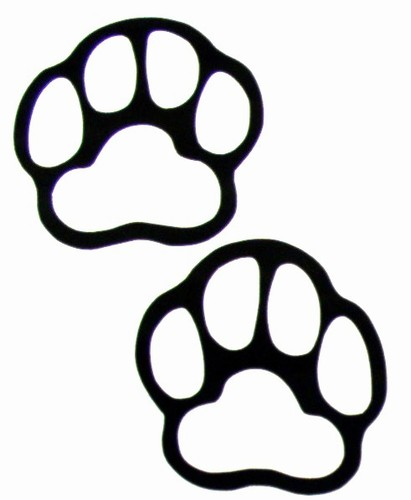 411x500 Paw Print Clip Art Black And White