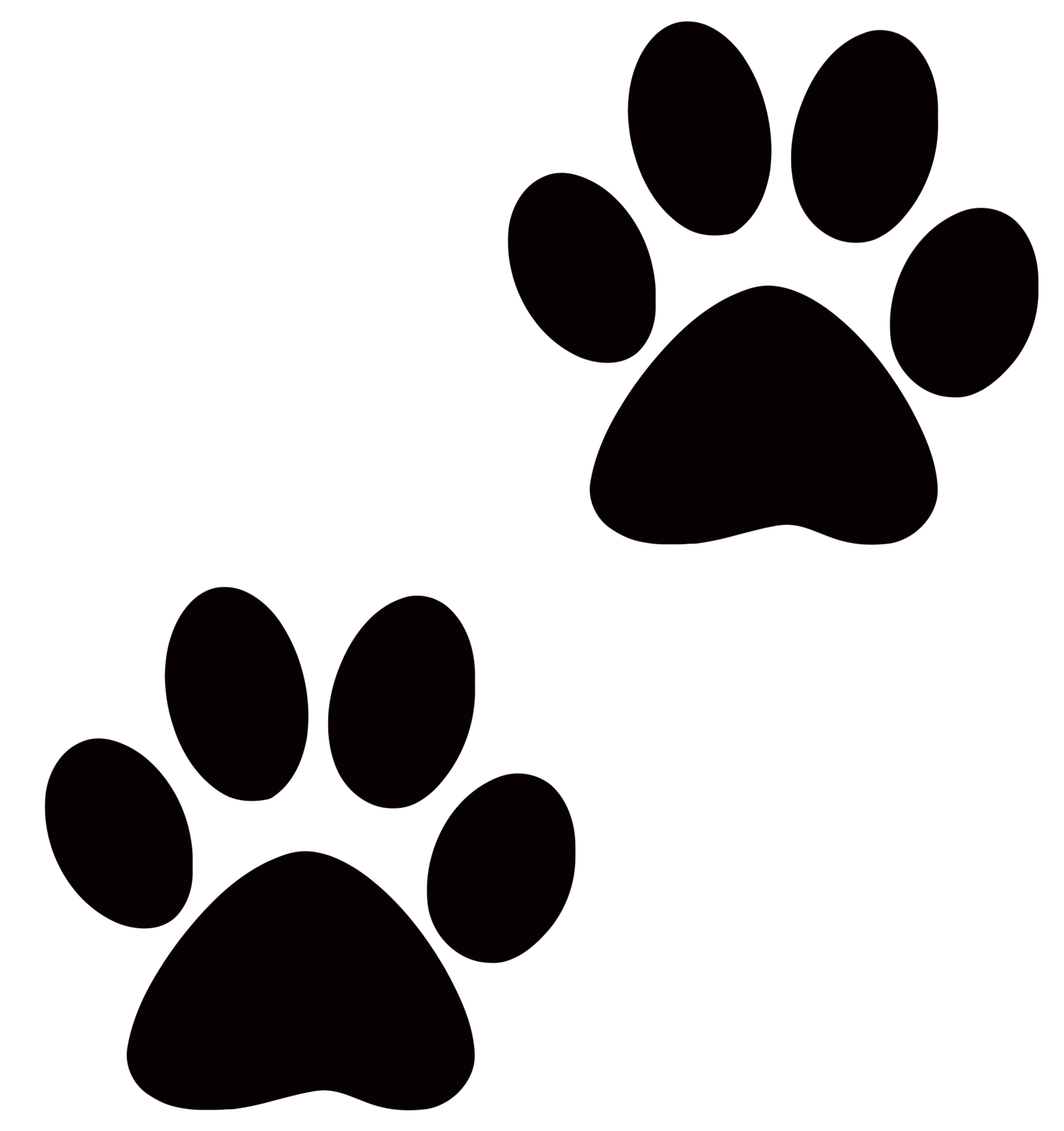 3333x3541 Paw Print Clipart No Background