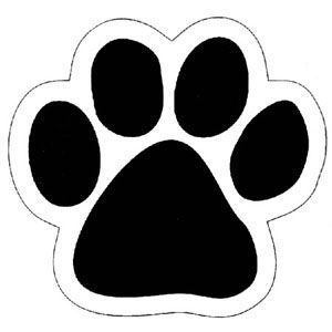 300x300 Paw Print Template Not Quite The Actual Size Of Baxter's Paw