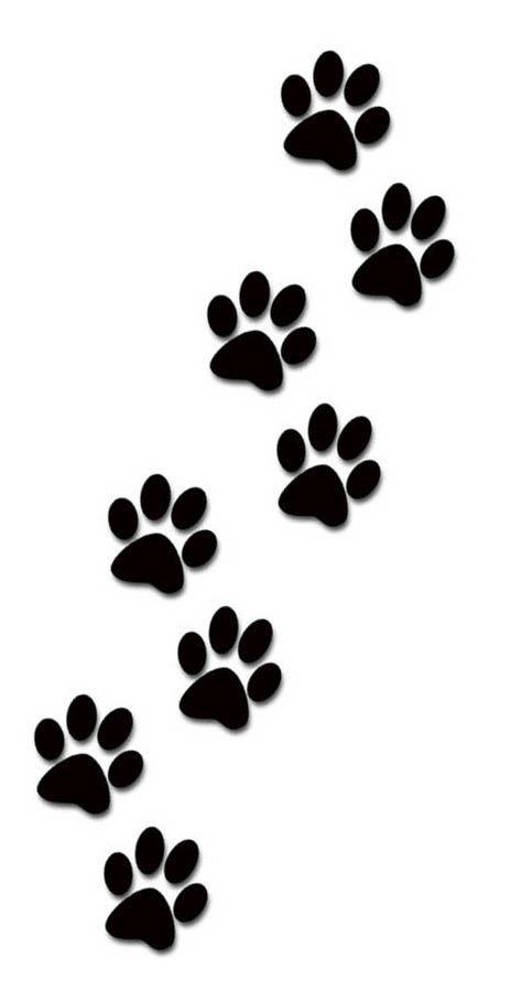474x908 Dog Paw Print Clipart