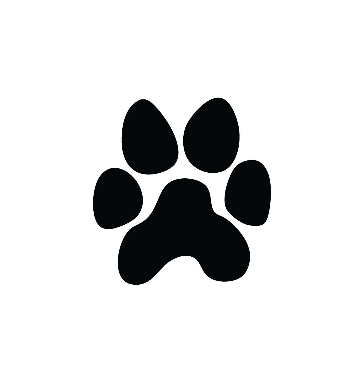 1214x1282 Panther Paw Print Clip Art