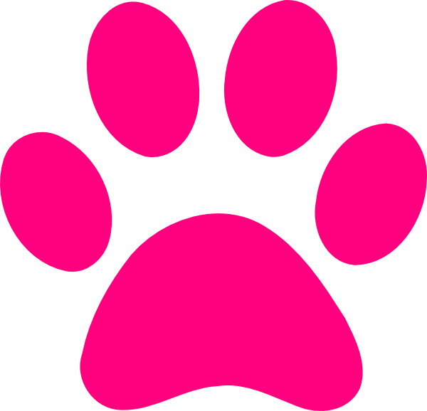 600x578 Background Clipart Paw Print