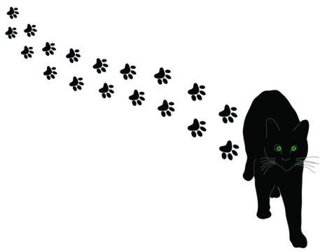 477x358 Cat Paw Prints Clip Art Tumundografico