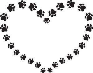 300x237 Dog Paw Prints Free Vector Graphic Paw Prints Dog Print Cat Image