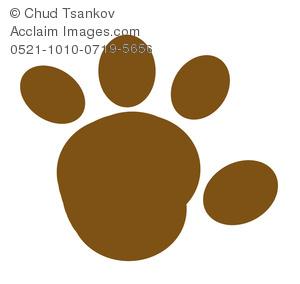 300x284 Image Of A Muddy Cartoon Paw Print