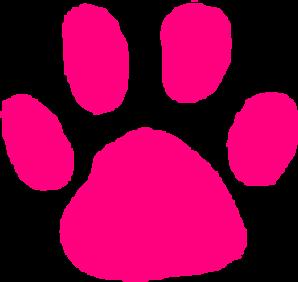 298x282 Pink Paw Print Clip Art