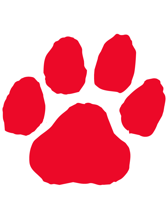 641x837 Red Paw Print Temporary Tattoo