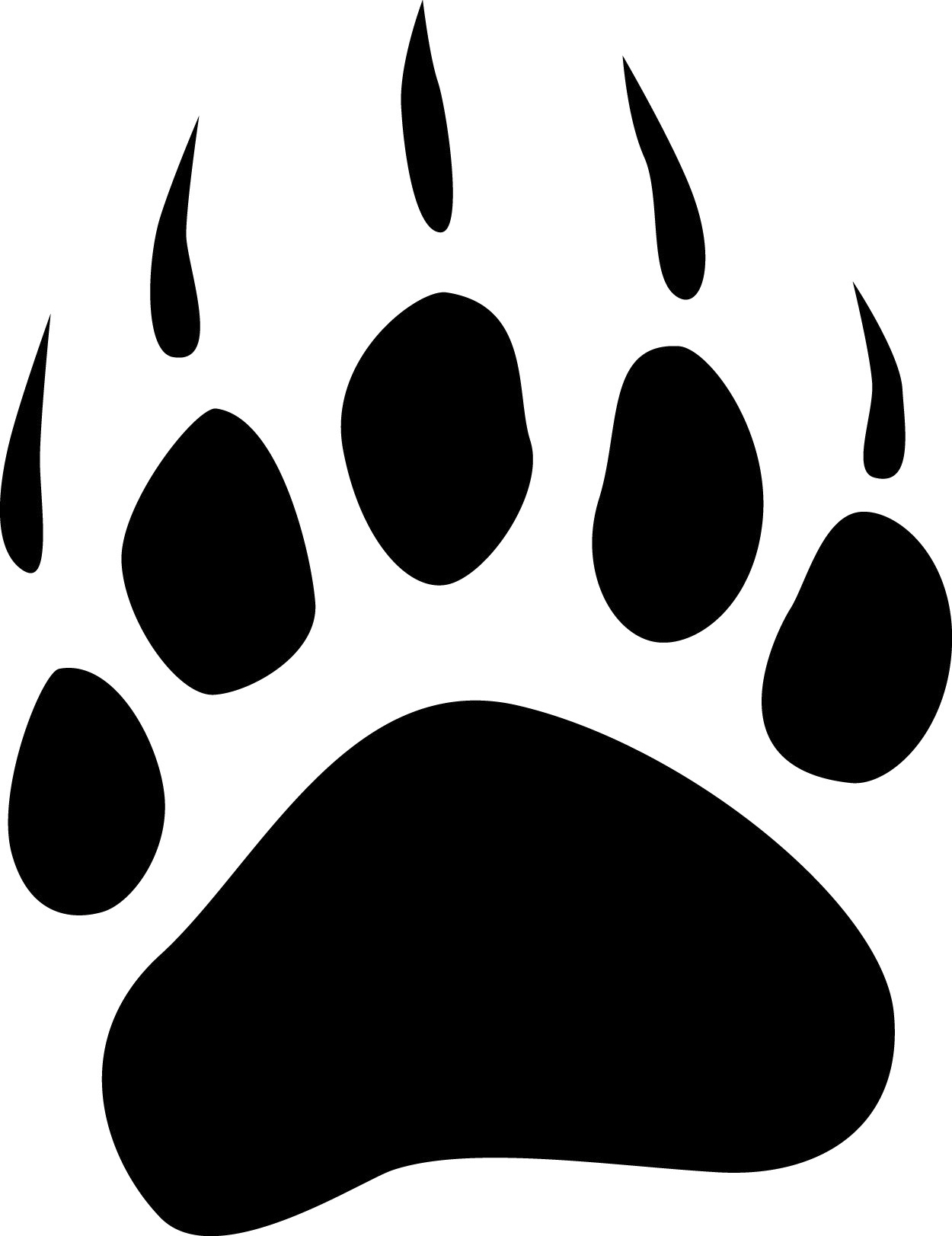 1250x1623 Grizzly Bear Paw Print Clipart Free Images 2