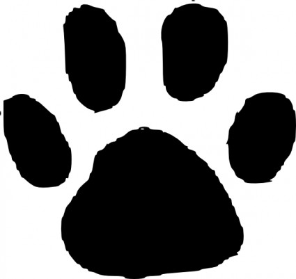 425x401 Free Clipart Dog Paws