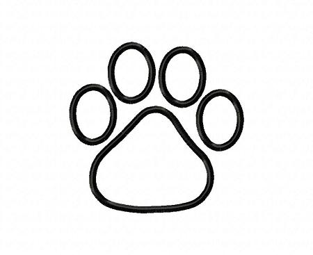 450x367 Paw Outline Clip Art