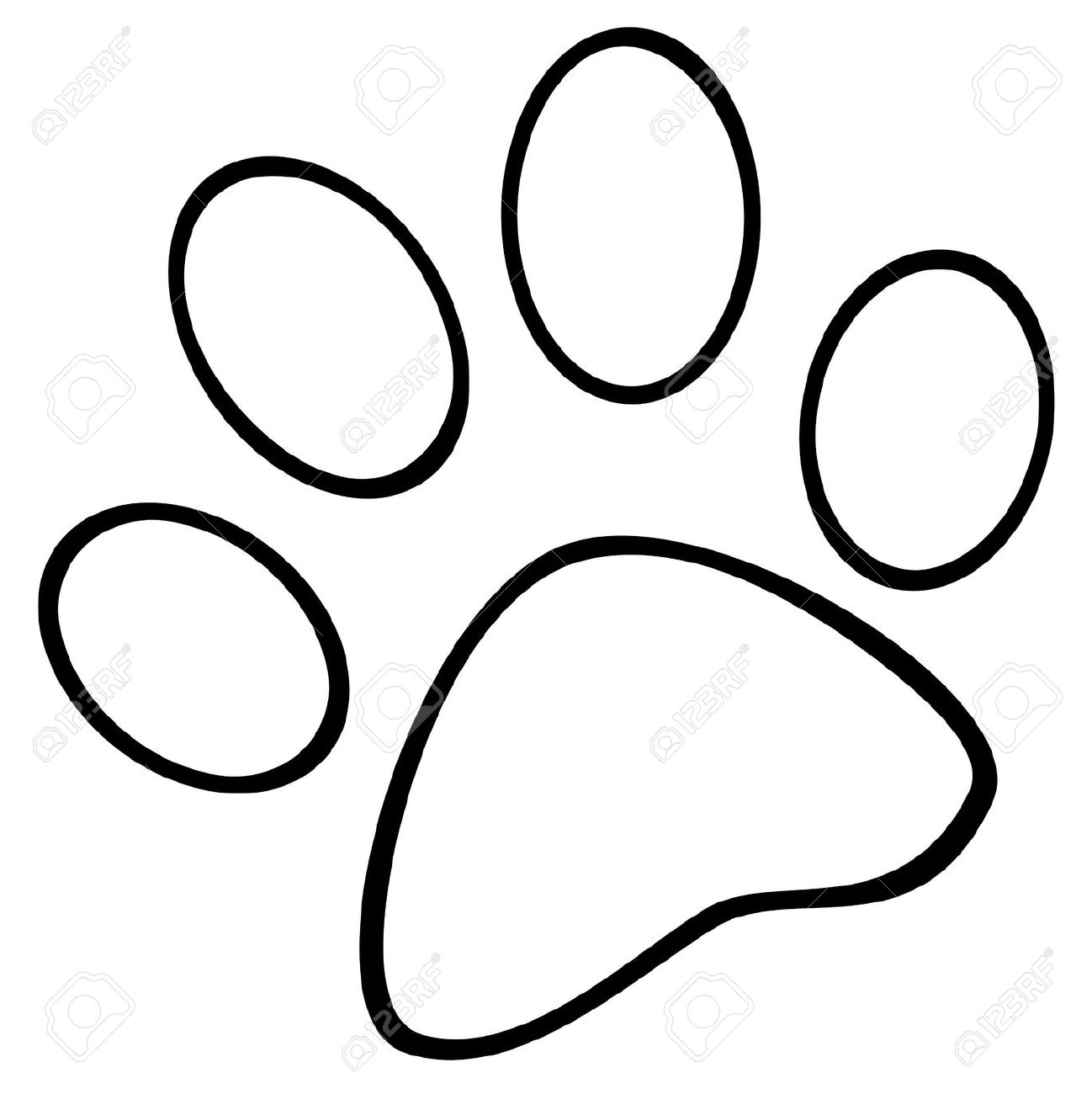 1298x1300 Paw Print Coloring Pages