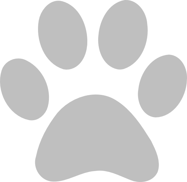 600x583 Paw Print Outline Clipart