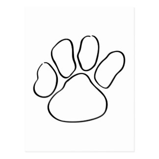 324x324 Paw Print Tracks Postcards Zazzle