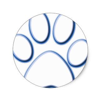 324x324 Blue Paw Print Stickers Zazzle