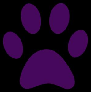 297x299 Purple Pawprint Black Outline Clip Art