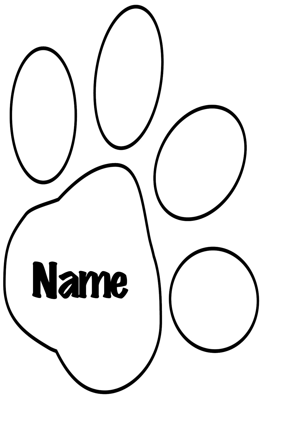 1089x1600 Tiger Paw Print Coloring Page Murderthestout