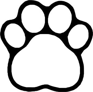 300x297 Paw Print Door Decs. These Would Be Super Cute With Paint Chips