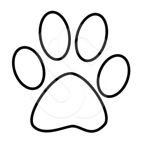 Paw print outline. Free download best on
