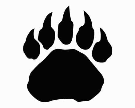 439x349 Grizzly Bear Paw Print Clipart Free Images 3