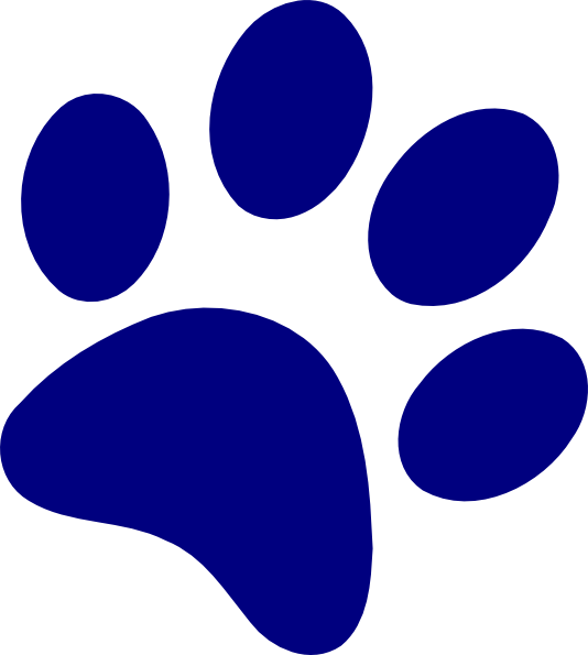 534x595 Free Paw Print Clipart Image