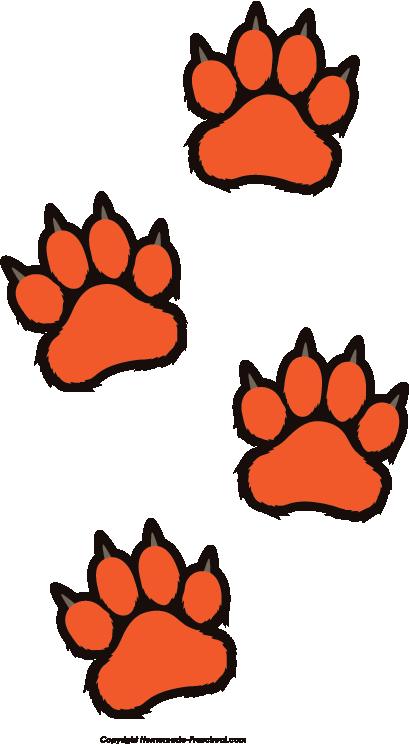 409x744 Free Tiger Pawprint Clipart