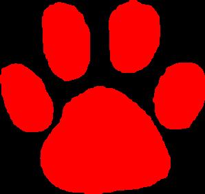 298x282 Red Paw Print Clip Art