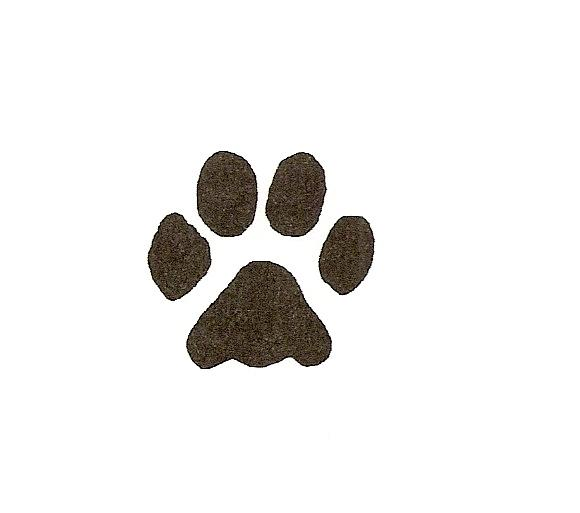 580x513 Paw Print Wildcats On Dog Paws Paw Tattoos And Clip Art Image