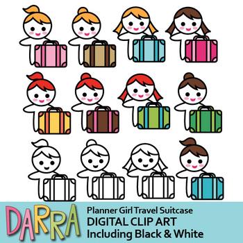350x350 Girl With Suitcase Clip Art By Darrakadisha Teachers Pay Teachers