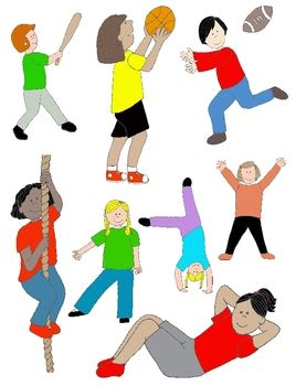 268x350 Kids In Action Sports And Pe, Illustrated! 30 Pngs Action