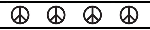 625x125 Groovy Peace Sign Baby And Kids Wall Border By Sweet Jojo Designs