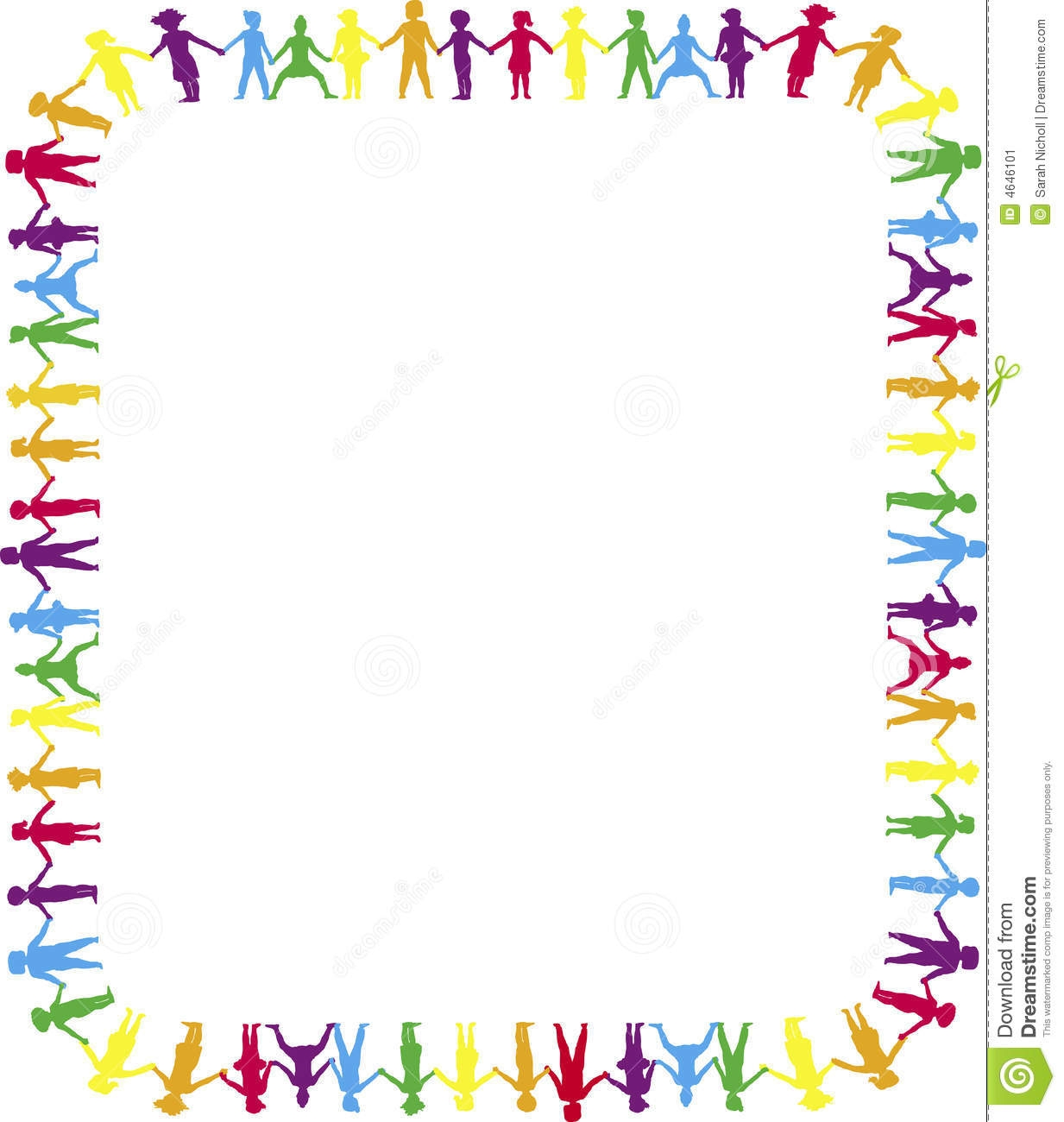 1233x1300 Kids Holding Hands Clipart Border