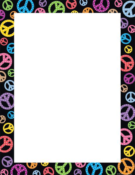 463x600 Peace Signs Blank Chart Tcr7723