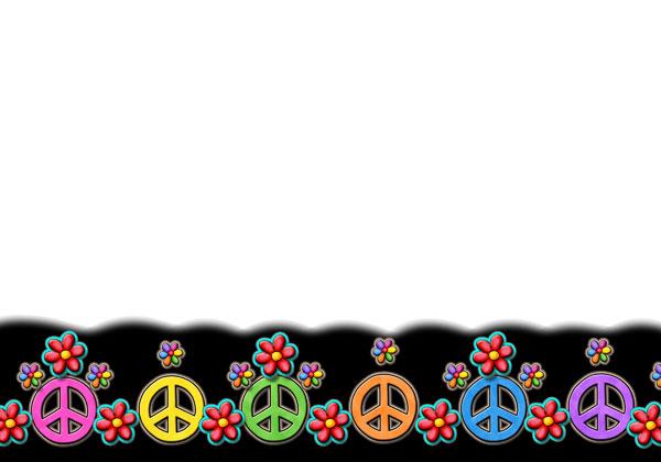 600x420 Peace Signs Rainbow