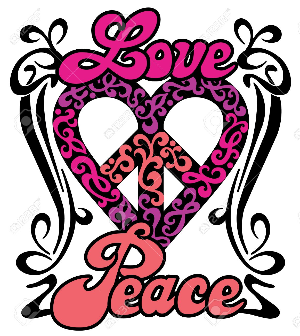 1163x1300 Peace And Love Clipart