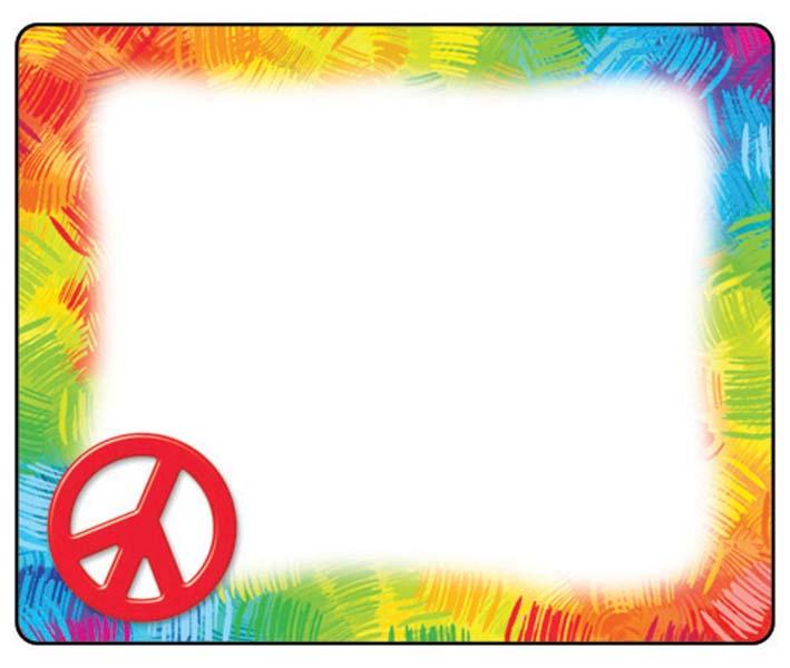 709x600 Peace Sign Border Clipart
