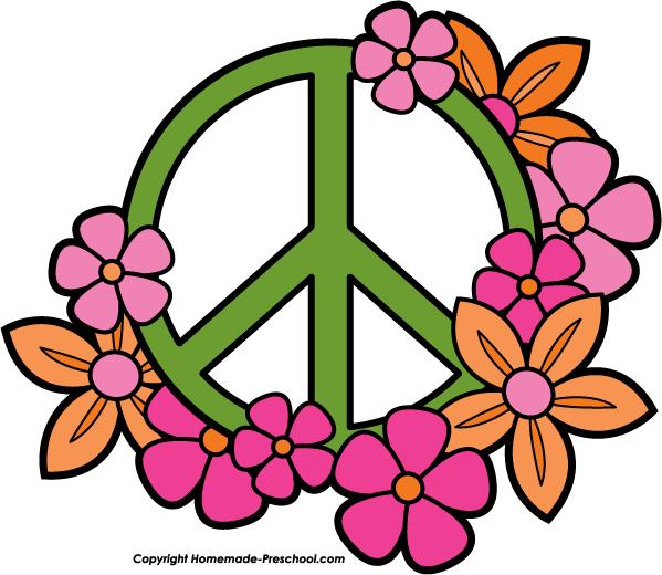 599x520 Peace Sign Border Clipart